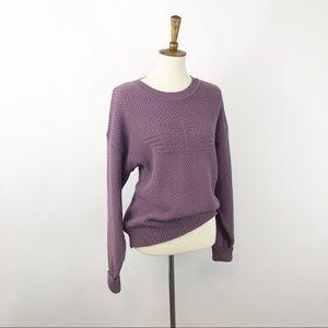 VTG Lavender Dockers Drop Shoulder Sweater, Med